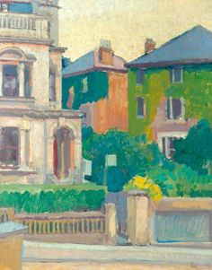 Spencer Gore - Suburban Street. Along with Sickert, Ginner and Gilman, member of the Camden Town Group of artists.