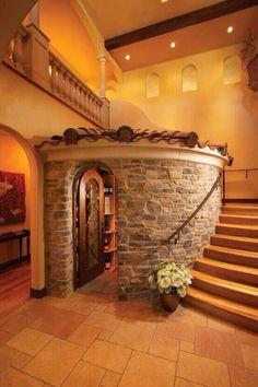 Stone wine room for the future house? Future House, My House, Castle House, House Inside, House Front, Escalier Design, House Goals, Dream Rooms, My Dream Home