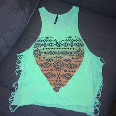 SALECute summer top Worn only once, color is a faded neon green, no flaws that I am aware of. Size large, would be perfect over a bikini in summer or just wearing alone with a bralette and high waisted shorts  offers welcome if you want discounted shipping just ask for separate listing ❤️ Love Culture Tops Tank Tops