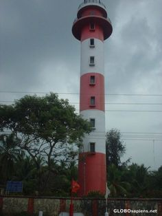 Lighthouse at Chavakkad beach, near Trissur in Kerala. India.