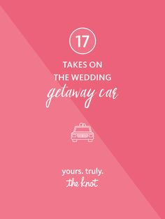 Make your wedding exit just as memorable as your entrance with these fun ways to ride off into the sunset as a married couple. Wedding Getaway Car, Wedding Transportation, Wedding Exits, Entrance, How To Memorize Things, Couple, Make It Yourself, Sunset, Ring