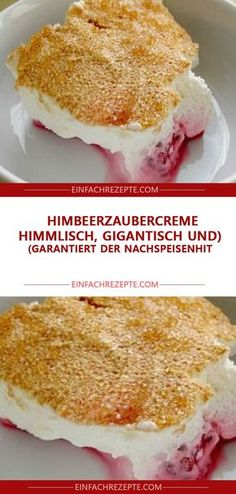 Raspberry magic cream (heavenly, gigantic and guaranteed .- Himbeerzaubercreme (Himmlisch, gigantisch und garantiert der Nachspeisenhit) Raspberry magic cream (heavenly, gigantic and guaranteed the dessert hit) - Healthy Dessert Recipes, Brunch Recipes, Cake Recipes, Pampered Chef, Diy Dessert, Dessert Thermomix, Food Cakes, Fall Desserts, Ice Cream Recipes