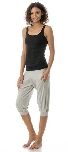 versatile eco friendly fashion // MAJAMAS // comfy cotton modal grey slouchy pants for everyday, yoga & yogi, workout, PJs, sleepwear & pajamas // be the change & learn to love ecofashion & USA MADE // wear beautiful clothing that doesn't harm our beautiful planet