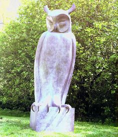 This monumental bronze of a Long Eared Owl stands nearly five foot high. It is based on the smaller sculpture, number 25. One of the edition was sold recently at Christies in Amsterdam. An edition of six.