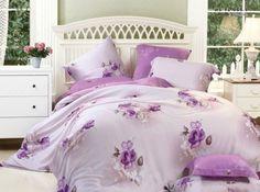 4-piece luxury bedding set Flower Words SETS070