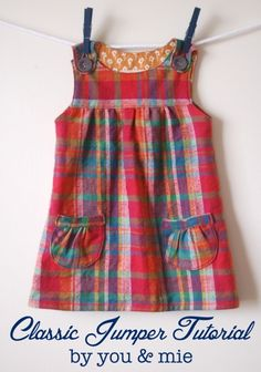 Pinafore tutorial - you need to be confident about making/adapting a pattern.