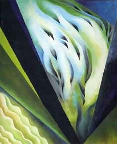 'bleu et vert musique' de Georgia O'keeffe (1887-1986, United States)