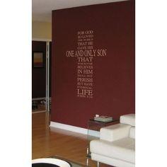 Nálepka na stenu John 3:16