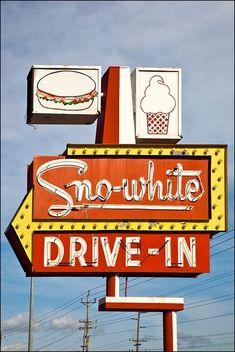 Snow White Drive-In Modesto, California