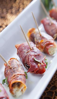 Oven baked prosciutto-wrapped dates. Very delicious appetizer! Blue cheese stuffed dates wrapped in Italian prosciutto and cooked in oven.