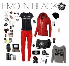 """""""EMO IN BLACK#62"""" by emo-in-black ❤ liked on Polyvore featuring Balmain, LE3NO, Delphine Leymarie, L. Erickson, Black Rivet, Trend Cool, Topshop, Superga, KD2024 and Deborah Lippmann"""