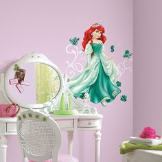 Roommates Disney Princess Ariel Peel and Stick Giant Wall Decals Disney Princess Decals, Disney Princess Ariel, Deco Stickers, Wall Stickers, Stickers Harry Potter, Mandala Nature, Stickers Alphabet, Baby Wall Decals, Do It Yourself Design