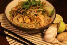 Spicy Chicken and Peanut Shirataki Noodles - Home Sweet Jones