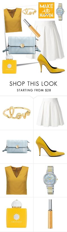 """Something Blue"" by elenp80 ❤ liked on Polyvore featuring Post-It, Sydney Evan, Boutique Moschino, Mulberry, Alice + Olivia, Pulsar, AMOUAGE and Giorgio Armani"