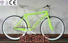 vélo simple de vitesse de bon du coulur 700c d'armature fixie vert de la CE
