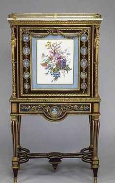 Drop-front Secretary on Stand, attributed to Adam Weisweiler, etc. ca. 1787, French, the Met collection