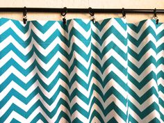 Popular items for turquoise curtains on Etsy