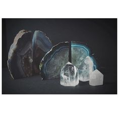 UPLIFT.  Give your space a mood boost with our Agate Bookends & Clear Quartz Points.  #katehewko #decor #home #harmony #enlightened #living @katehewko