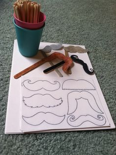 Mustache craft for mustache party