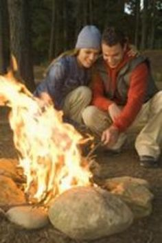 "Romantic Camping Games article by Cindy Blankenship. ""The crackle of a fire, fresh air and starry skies make camping a romantic activity for outdoorsy couples and even novice campers. Whether or not the elements cooperate, fan the romantic flames by putting a starry-eyed spin on traditional camping games, from games played at the picnic table to in the woods, and depending on where you're at in the relationship, maybe even the tent...."""
