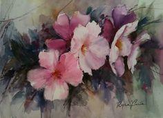 Image result for quadros de flores em aquarela