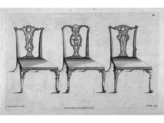 """Chippendale, Thomas Author of """"The gentleman and cabinet-maker's director: being a large collection of the most elegant and useful designs of household furniture in the Gothic, Chinese and modern taste."""" A book of his furniture designs. Sillas Chippendale, Louis Xv Chair, Georgian Furniture, Rococo Furniture, Traditional Dining Rooms, Patterned Chair, Cabinet Makers, Antique Stores, Furniture Styles"""