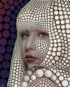 Lady Gaga, por Ben Heine