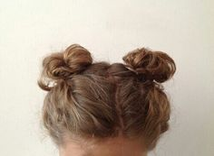 aesthetic, beige, brown, brown hair, buns - image #3751693 by ...