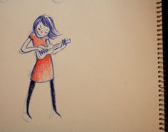 An smile-generating sketch by one of my favourite customers I bet she has some Bia Boro knickers on under that dress :) Ukulele Art, Ukelele, Ukulele Tumblr, Rock And Roll Girl, Music Express, Girl Sketch, Pencil And Paper, Art Journal Inspiration, Music Love