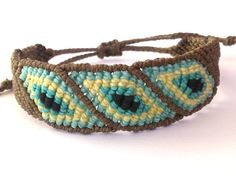 Macrame Bracelet/Evil Eye/Micromacrame by MACRANI on Etsy