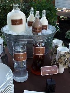 Love the labels and the galvanized bucket!