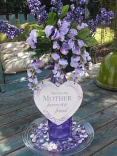 Mothers Day- Mothers Day Floral Centerpiece- Mothers Day Flower Arrangement- Mothers Day Purple Centerpiece- Mothers Day Gift