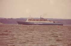 P & O Ferry in the Solent 1980