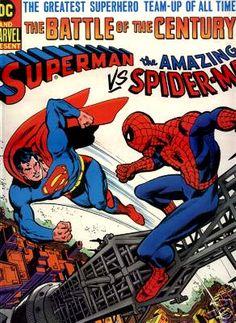COMIC superman vs amazing spiderman #comic #cover #art