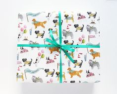 Gift Wrap from Lydia & Pugs - Dog Milk