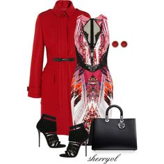 """Black Pumps And A Red Coat"" by sherryvl on Polyvore"