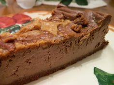 Ginny's Low Carb Kitchen: CHOCOLATE AND PEANUT BUTTER SWIRL CHEESECAKE ~ Okay, this is making me want some of this...Wowzers!  Visit us at: https://www.facebook.com/LowCarbingAmongFriends