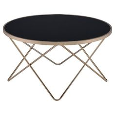 ACME Valora Black Glass Coffee Table