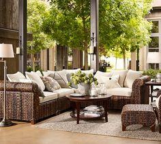 Chelsea Swing-Arm Floor Lamp Base   Pottery Barn - Antique Nickel $279 - Living Room