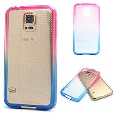 S5 Case, UUlike Hontpink and Blue Gradient TPU Soft Edge Bumper Case Rubber Silicone Skin Cover for Samsung Galaxy S5 i9600 (Not for S5 Mini), http://www.amazon.com/dp/B015HOI1HC/ref=cm_sw_r_pi_awdm_xgFGwb0CSD40Q