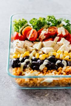 20 Healthy Meal Prep Bowls To Make Your Life Stress Free Burrito Bowl Meal Prep, Chicken Burrito Bowl, Chicken Burritos, Meal Prep Bowls, Burrito Bowls, Burrito Burrito, Chicken Salad, Sunday Meal Prep, Lunch Meal Prep