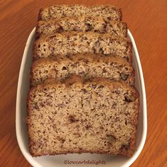 12/20/15 Yesterday I bought a small bunch of ripened bananas because the minute I saw them I knew it was a sign. A sign to bake #banananutbread!!! They are not completely #lowcarb but still a lot lower than that store bought stuff and it's #glutenfree AND delicious!!  #lowcarbdelights #diabeticfriendly #lchf #lowcarbhighfat #naturallysweetened #nosugaradded #paleo #almondflour #bananabread #homemade #winterbaking #lowcarbbaking #bananasweetened #semilowcarb by lowcarbdelights