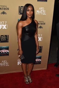 """Angela Bassett Photos Photos - Actress Angela Bassett attends the premiere screening of FX's """"American Horror Story: Hotel"""" at Regal Cinemas L.A. Live on October 3, 2015 in Los Angeles, California. - Premiere Screening of FX's 'American Horror Story: Hotel' - Arrivals"""