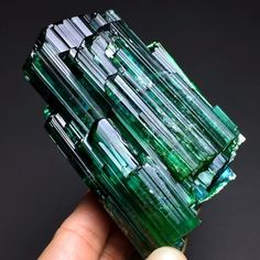 Green Tourmaline Gem Cluster from Brazil