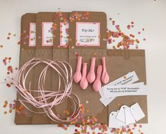 One (1) - DIY Pop the Balloon kit, secret message inside, will you be my…