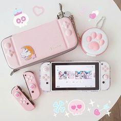 accessories for room girl Kawaii Games, Nintendo Switch Case, Game Room Kids, Nintendo Switch Accessories, Otaku Room, Gaming Room Setup, Accessoires Iphone, Kawaii Room, Game Room Design