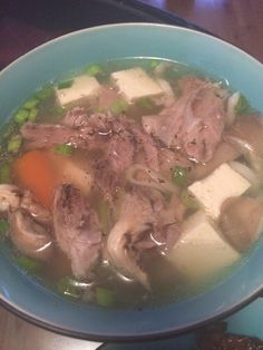 Pork bone soup with tofu