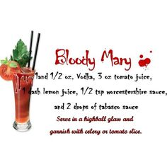 Bloody Mary Recipe- I'm on a beach weekend. This must be acceptable. It's 5 o clock somewhere, right?