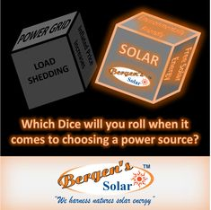 The choice will charge your family's life ⚡🌞🔌💡 #gogreen #thefuture #loadshedding #solar #solarpanels #dice #choose #family #power #makeithappen #bergenssolar #southafrica #abetterfuture #rollit Call Mark for a Quote  Phone: 073 556 0073  Email: mark@bergens.co.za