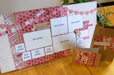 SG Valentine's layout. like the pennants and there's quite a few photos that fit onto this layout.